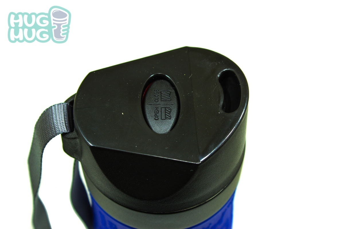 Термокружка Kamille c TPR и ремешком 380 мл. крышка