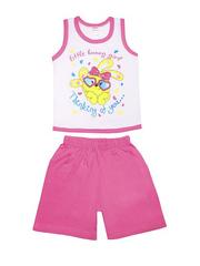 DL054-70-9-26 костюм детский (шорты+майка), розовый