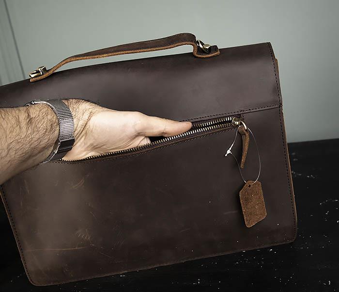 BAG471-2 Мужской портфель из толстой кожи фото 07