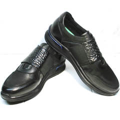 Кроссовки без шнуровки мужские Luciano Bellini 1087 All Black