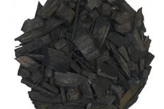 Декоративная щепа черная (мульча) 60 л