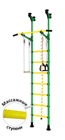 Шведская стенка аналог kometa5  (dsk с массажными ступенями) зеленый