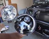 Установка светодиодных фар Jeep Wrangler фото-2