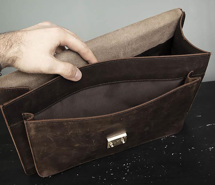 BAG471-2 Мужской портфель из толстой кожи фото 09