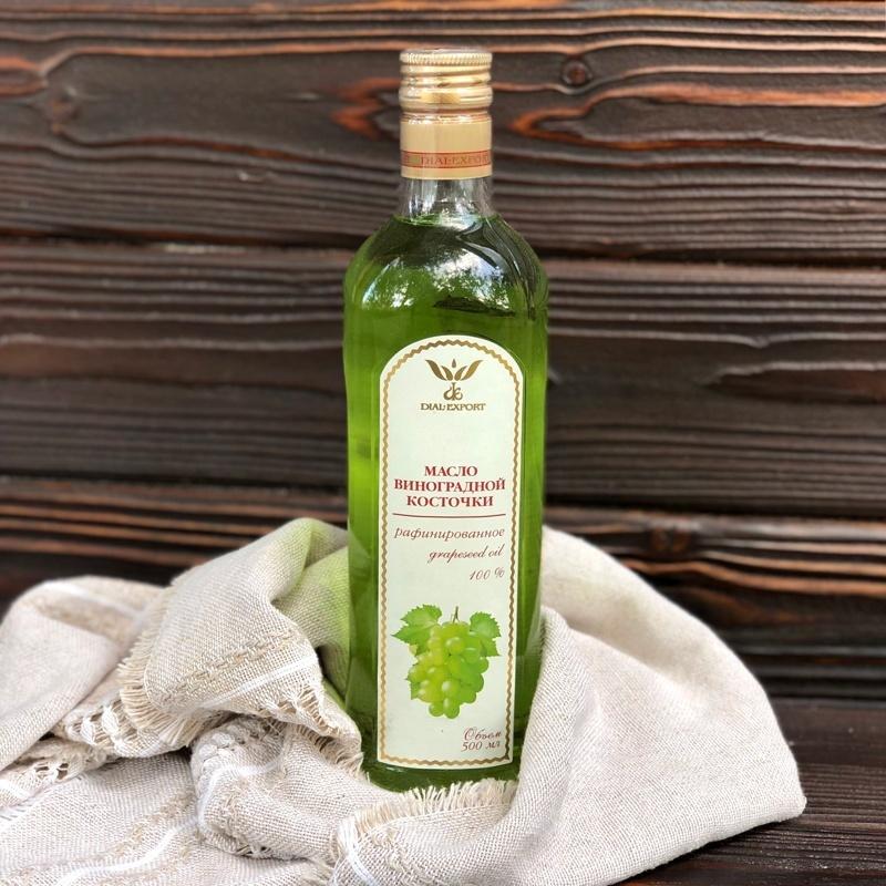 Фотография Масло виноградное рафинированное 0,5 литра купить в магазине Афлора
