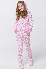 """Детская пижама-комбинезон """"Котята розовые"""""""