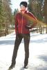 Женский утеплённый лыжный костюм Nordski Elite G-TX Wine/Black женский