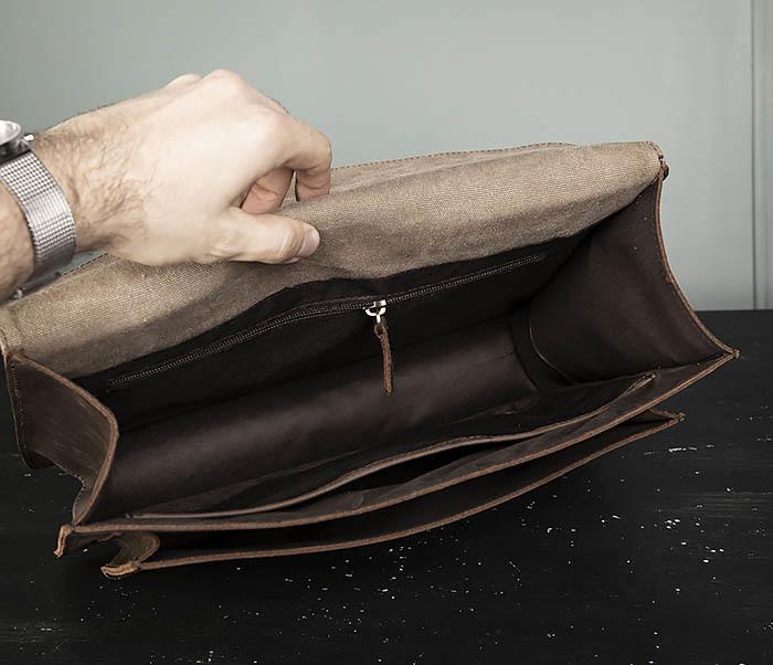 BAG471-2 Мужской портфель из толстой кожи фото 10