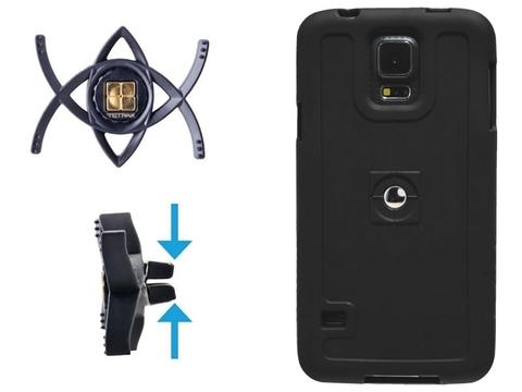 Автомобильный держатель телефона TETRAX SMART + чехол для Samsung Note2 черный