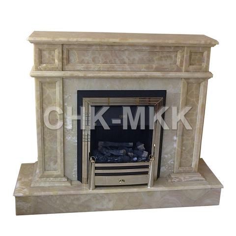 Портал для электрического камина из мрамора Крема Марфил