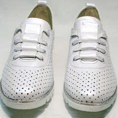 Летние кроссовки сникерсы Mi Lord 2007 White-Pearl.