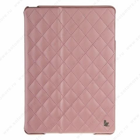Чехол-книжка Jisoncase для Apple iPad Apple iPad Air 1 со стеганым узором светло-розовый JS-ID5-02H35