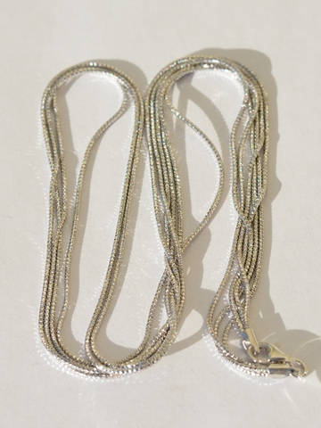 Колье из серебра,3 нити (серебряная цепочка).