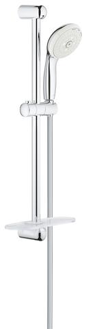 Tempesta New Душевой гарнитур III с полочкой, душевая штанга 600 мм