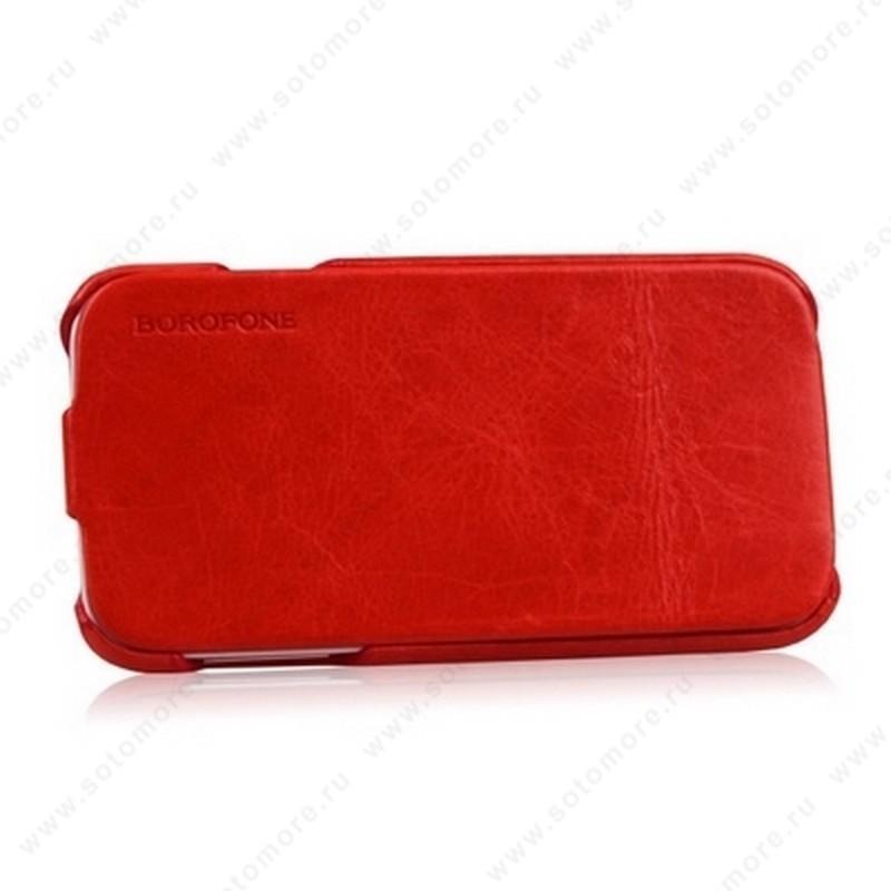 Чехол-флип Borofone для Samsung Galaxy S4 i9500/ i9505 - Borofone General Leather Case Red