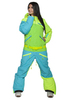 Женский комбинезон для сноуборда Cool Zone Mix 3527/14 бирюза-лайм | Интернет-магазин Five-sport.ru
