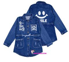 482 куртка джинсовая смайлик