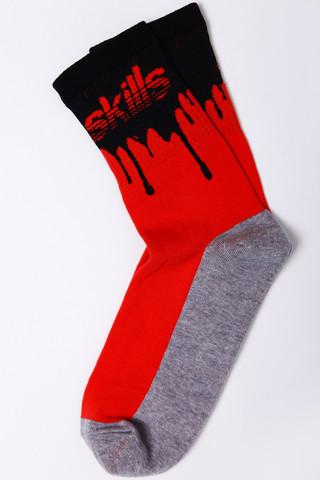 Носки SKILLS Нефть Красный/Черный