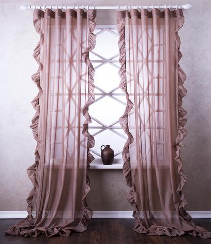 Готовая штора Бэтси коричневый