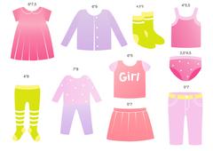 комплект наклеек в детскую комнату, девочки (2 листа)