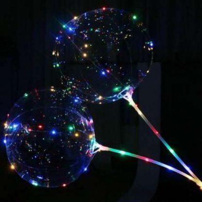 Светящийся воздушный шар на палочке с диодами (фото 2)