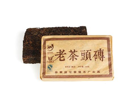 Лао Ча Тоу Юньнань кирпич 250 г (фаб. Юньхай Ча, Линцан 2012 г.). Интернет магазин чая