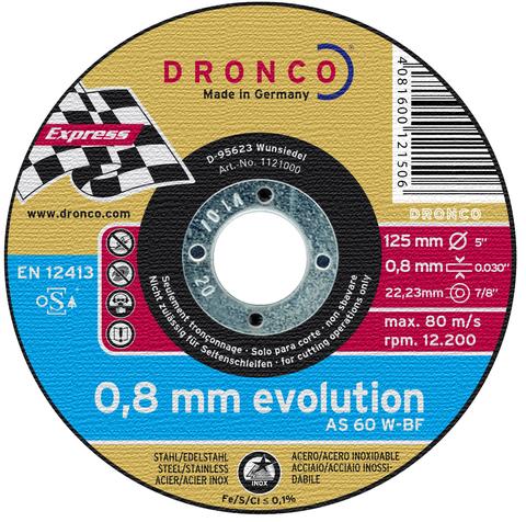 Абразивный отрезной диск Dronco AS 60 W 125х0,8