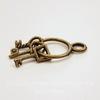 "Подвеска ""Связка ключей"" (цвет - античная бронза) 25х12 мм"