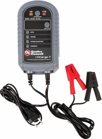 Зарядное устройство QUATTRO ELEMENTI i-Charge 7 (6 / 12В, 7 А, дисплей) полный автомат