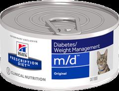 Ветеринарный корм для кошек при диабете/лишнем весе Hill`s Prescription Diet m/d