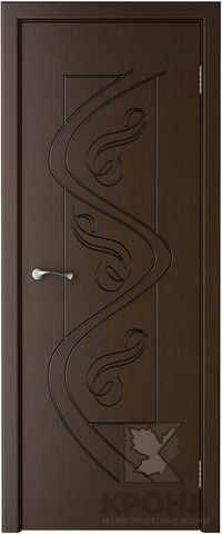 Дверь Крона Вега, цвет венге, глухая