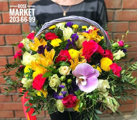 Цветы в корзинке «Восторг» #1950