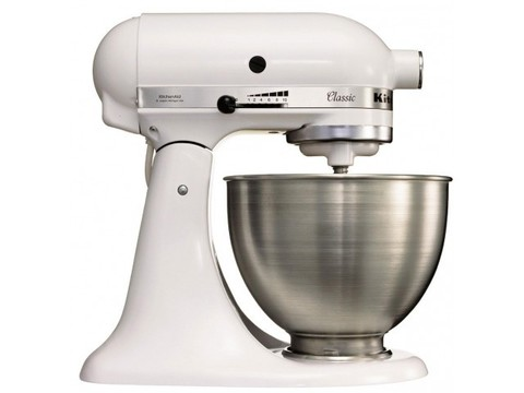 фото 1 Миксер планетарный Kitchenaid 5K45SSEWH на profcook.ru