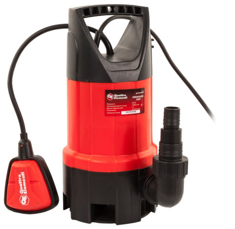Дренажный насос QUATTRO ELEMENTI Drenaggio  550 F (550 Вт, 10500 л/ч, для грязной, 7 м, 4,75кг)