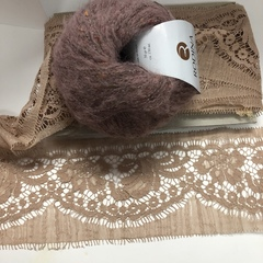 Кружево RM Chantilly Cotton Beige-Rose
