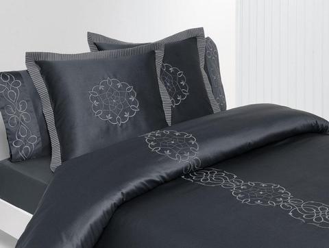 Постельное белье 2 спальное евро Bovi Франсе Нуар графит