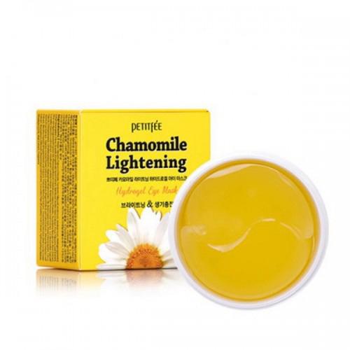 Petitfee Патчи для век гидрогелевые Ромашка Chamomile Lightening Hydrogel Eye Mask, 60 шт