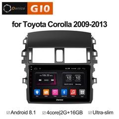 Штатная магнитола на Android 8.1 для Toyota Corolla E150 09-13 Ownice G10 S9605E