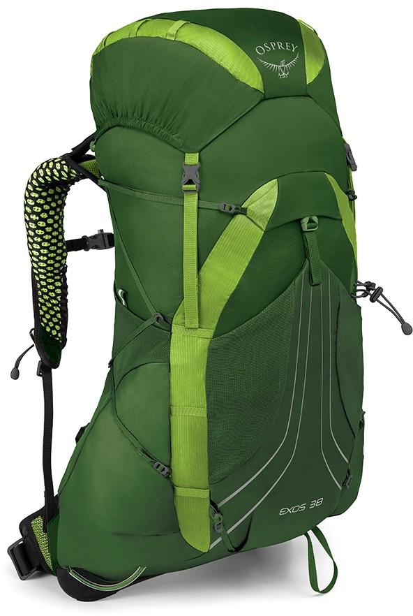 Туристические рюкзаки Рюкзак туристический Osprey Exos 38 Tunnel Green exos38_side_tunnel_green_1_2.jpg