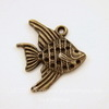 "Подвеска ""Рыбка"" (цвет - античная бронза) 21х19 мм"