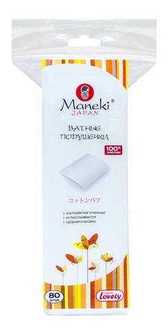 """Ватные подушечки """"Maneki"""" Lovely прямоугольные 80шт"""