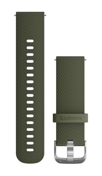 Силиконовый ремешок Garmin мохового цвета