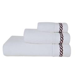 Полотенце 70x140 Casual Avenue Messina белое с цветным