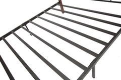 Кровать АТ-233 (200x90) Черный/Красный дуб