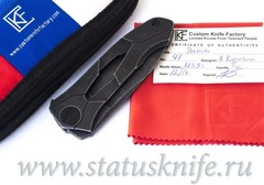 Нож Ратата BLK CKF (Коныгин, М390, титан, подшипники)