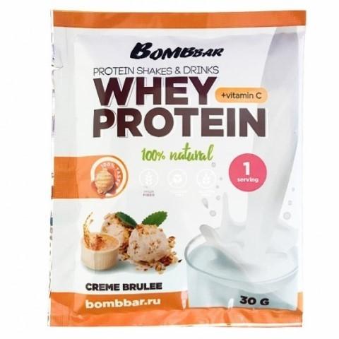 Сывороточный протеин + Vitamin C вкус Крем брюле BOMBBAR, 30 гр
