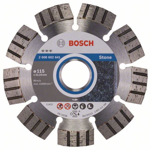 Алмазный диск Best for Stone 115-22,23 Bosch 2608602641