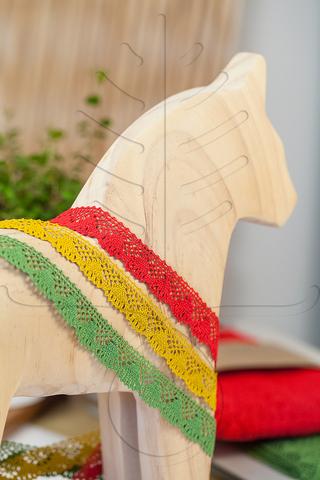 Хлопковое кружево 18 мм, 3 цвета