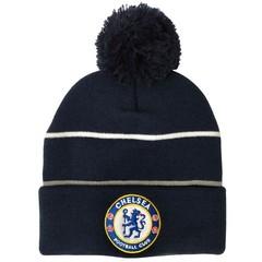 Вязаная шапка с помпоном с логотипом  ФК Челси (Chelsea Football Club)