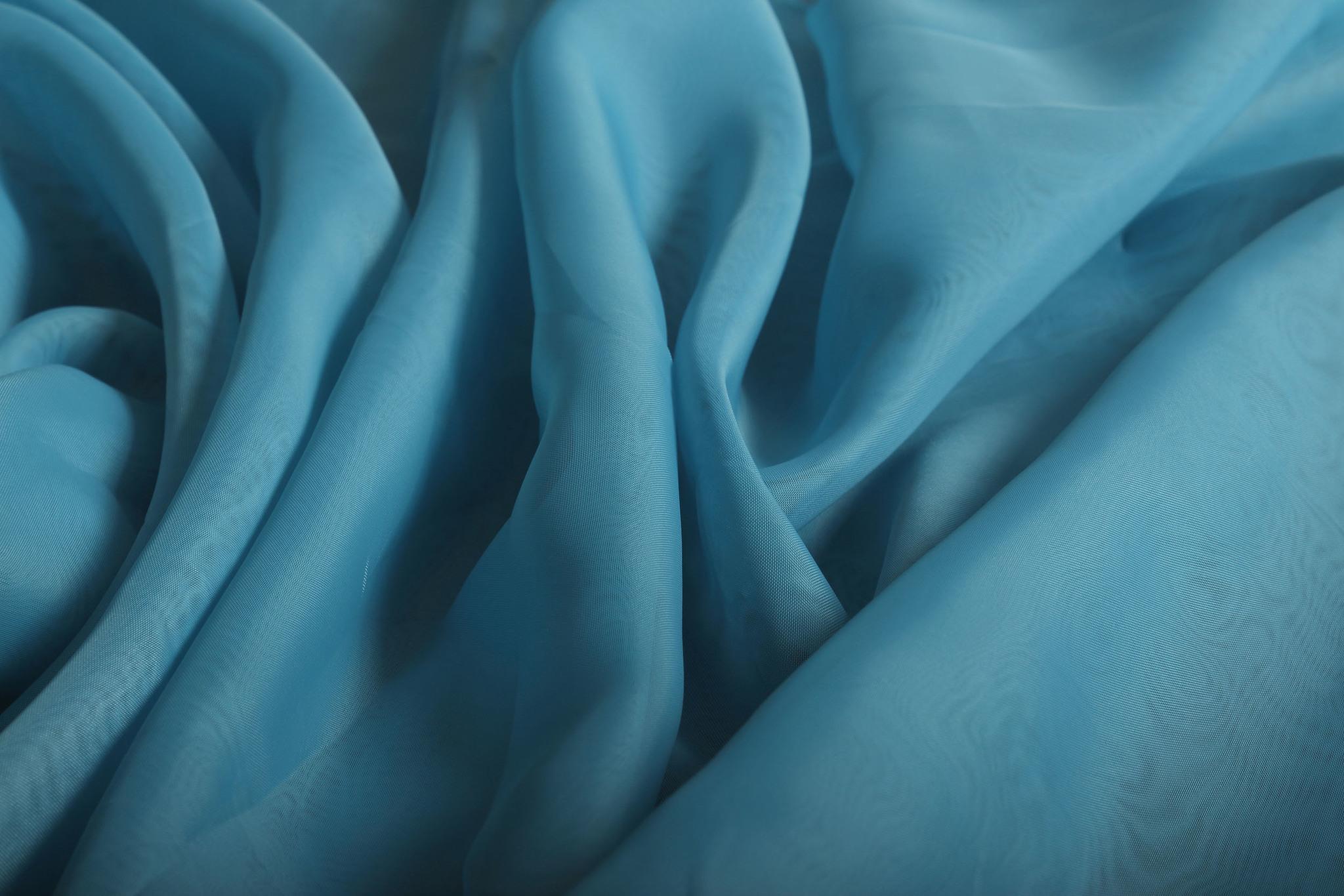 Шторы вуаль Nouvelle-2 (Aqua Blue)